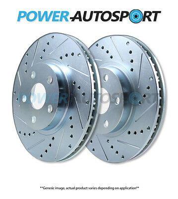 (Front) Power Performance Drilled Slotted Plated Brake Disc Rotors P5474