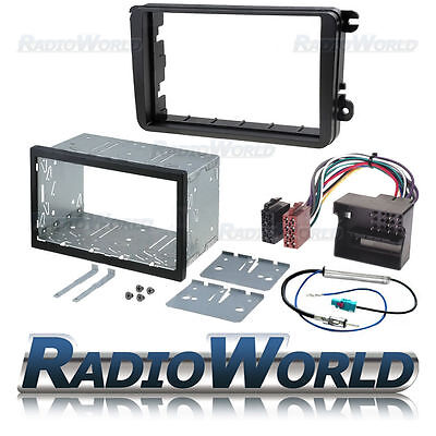 Volkswagen Golf Passat Double Din Fascia Panel Adapter Plate Cage Fitting Kit VW