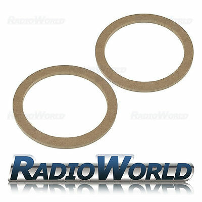 "6.5"" 165mm MDF Speaker Spacer Mounting Rings 8mm Thick ID 144mm ED 176mm Pair"