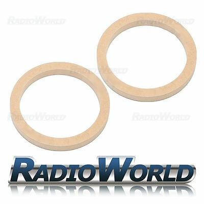"6.5"" 165mm MDF Speaker Spacer Mounting Rings 18mm Thick ID 144mm ED 177mm Pair"