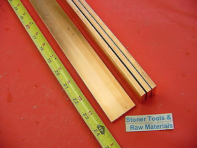 "4 Pieces 1/4""x 1-1/2"" C110 COPPER BAR 24"" long Solid Flat .25"" Bus Bar Stock H02"
