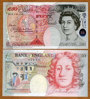 Great Britain, 50 pounds, 1994 (2006), Pick 388c, QEII, UNC   UK, England