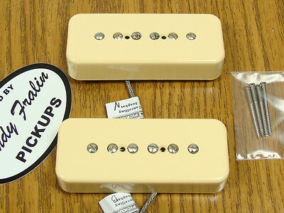 NEW Lindy Fralin Hum Cancelling P-90 Soapbar PICKUP SET Creme Pickups