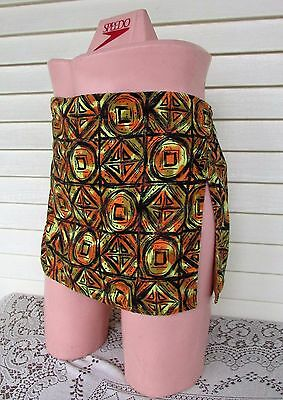 Vtg 50s Mens Hawaiian Swim Suit Trunks Bathing HIGH Side Slit Gay Skirt 36-38