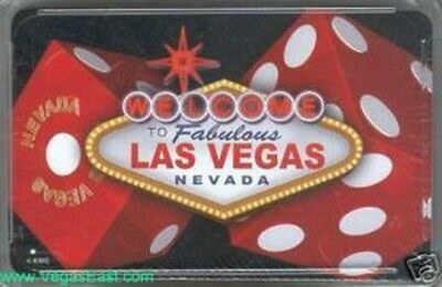 Welcome Las Vegas Playing Cards Poker Deck Dice Sign