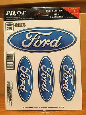 4 pc automotive official FORD MOTOR oval DECAL sheet LOGO