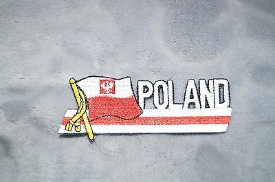 Patch Country Flag Sew On Iron On Jacket Shirt or Pants Poland Color