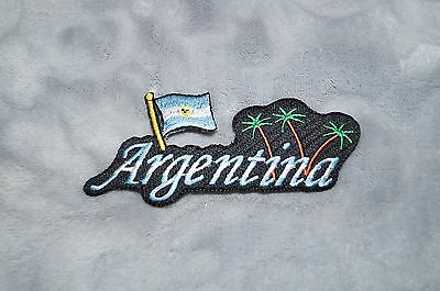 Patch Country Flag Sew On Iron On Jacket Shirt or Pants Argentina Color 1