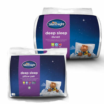 Silentnight Deep Sleep Bundle - 2 Pillows + 13.5 Tog Duvet - Single