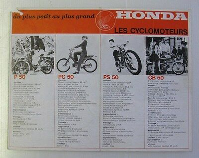 HONDA RANGE Motorcycle Brochure FRENCH TEXT Includes Monkey Bike c1971