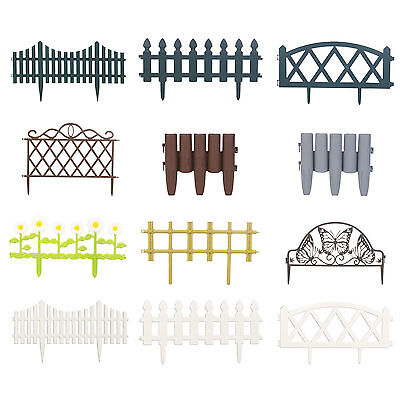 4 8 12 Flexible Garden Lawn Grass Edging Picket Border Panel Plastic Wall Fence