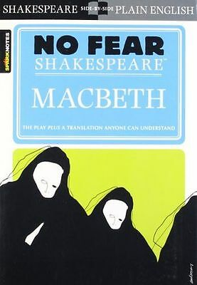 **NEW** - Macbeth No Fear Shakespeare Spark Notes (Paperback) ISBN1586638467
