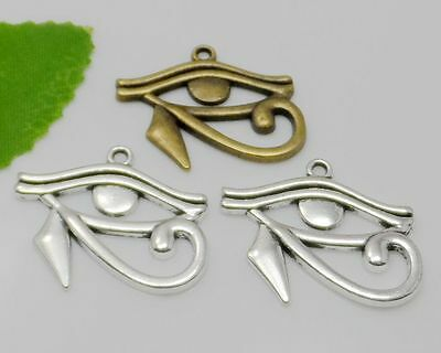 10pcs Antique Silver Rah Egypt Eye Of Horus Egyptian Charms Pendants 27x33mm