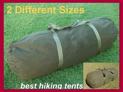 New Heavy Duty Canvas Swag Carry Bag Large Duffle Travel Luggage Olive 2 Size