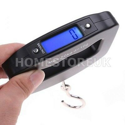 Accurate Digital Travel Suitcase Luggage Hand Scale Weighs 50Kg With Hook 2070