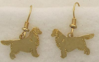 Golden Retriever Jewelry Gold Silhouette Earrings By Touchstone Dog