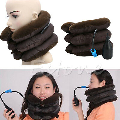 Inflatable Neck Stretcher Pain Relief Shoulder Tension Back Traction Adjustable