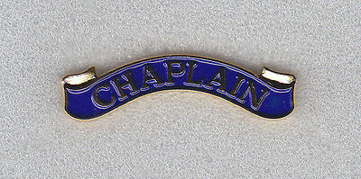 CHAPLAIN Award Bar/Uniform Pin GOLD on BLUE police/sheriff/fire dept