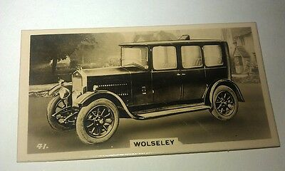 WOLSELEY 16/45hp  -  Wills New Zealand Real Photo Cigarette Card Issued 1926