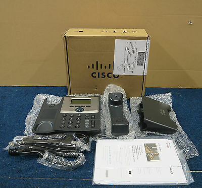 NEW Cisco Systems CP-521SG Unified PoE IP VoIP Phone Telephone + Stand, Handset