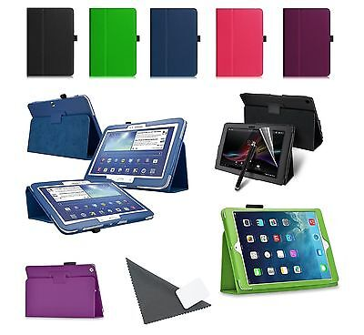 100x Leather Tablet Stand Cases Samsung Ipad Hudl Kindle Nexus & More Wholesale