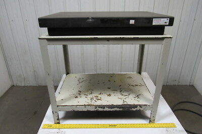 "24""x36""x5"" Surface Inspection Plate 32"" Tall Steel Stand Bevel Top  Grade ""B"""