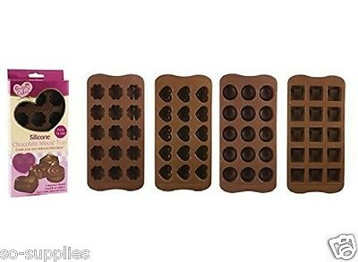 Silicone Chocolate Mould Tray Heart Round Icing Sugarcraft Cake Jelly Baking Ice