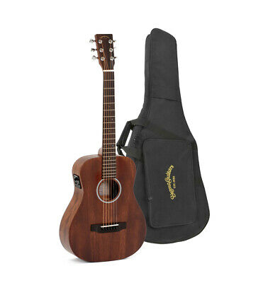 Sigma TM-15E Electro Acoustic 6 String Travel Guitar Mahogany Inc Gigbag