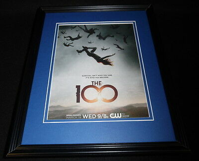 The 100 2014 CW Framed ORIGINAL 11x14 Advertisement Eliza Taylor Paige Turco
