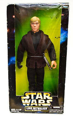 Star Wars Luke Skywalker in Jedi Gear 1998 Hasbro Action Figure 28028 12""