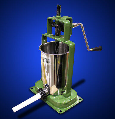 New MTN 2L Stainless Steel Tank Meat Manual Sausage Stuffer  - Green
