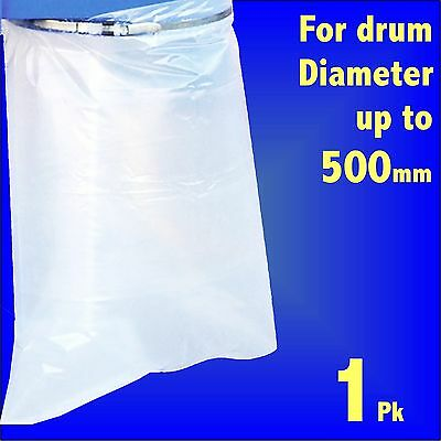 Polythene Collection Bag 32 x 43 for Charnwood Fox SIP Dust Extractor 500mm Drum
