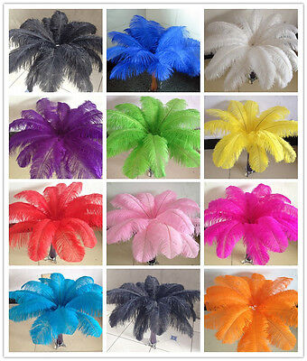 Gorgeous 5-100 pcs Natural Ostrich Feathers 6-24 inches/15-60 cm For Decoration