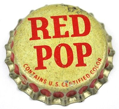 Vintage Red Pop Kronkorken USA Soda Bottle Cap Korkdichtung
