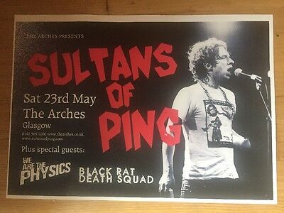 Sultans Of Ping - Rare Gig poster, Glasgow. May 2009