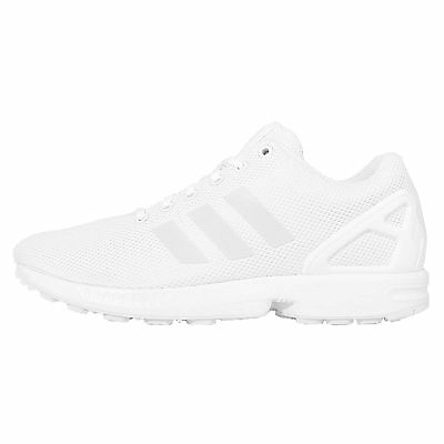 c58bad4b94228 Adidas Originals ZX Flux All White Out Mens Running Shoes Sneakers S79093