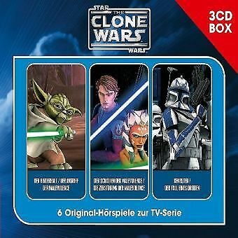 The Clone Wars-3-CD Hörspielbox Vol.1 - CD (3) Folgenreich NEW