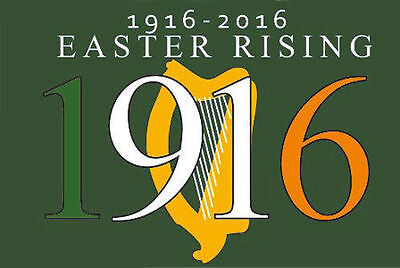 Easter Rising 1916 - 2016 Flag - 5x3' - Irish Republican Rebel Ireland Centenary