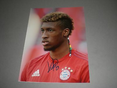 Kingsley Coman Bayern München signiert signed  Autogramm auf 20x28 Foto in pers.