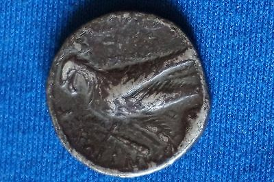Ancient Greek Silver Coin Antiochos VII 128- 129 BC BIRD minted in Tyre