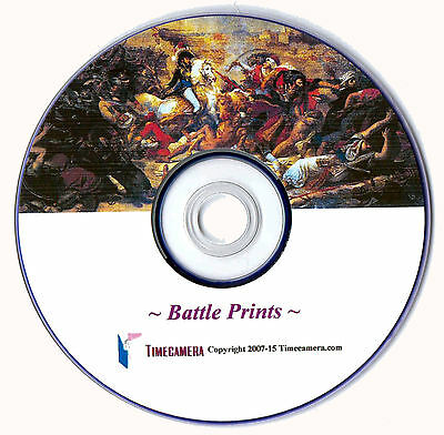 FAMOUS BATTLES PRINTS Restored Images for Print Making - Disc / Download