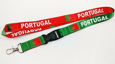 Portugal Flag Reversible Lanyard/keychain, New, Free Shipping