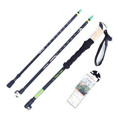 Carbon Alpenstock Outer Lock Camping Hiking Trekking Sticks Poles 65-140cm T137