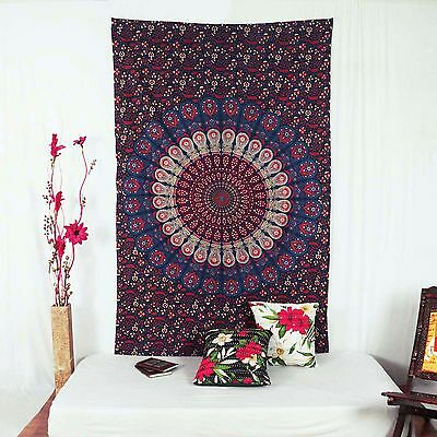 Vintage Indian Mandala Tapestry Cotton Wall Hanging Blue Home Decor 84€�X 56€�