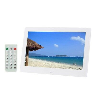"""10.1"""" HD Digital Photo Frame Picture Mult-Media Player MP3 MP4 For Gift White"""