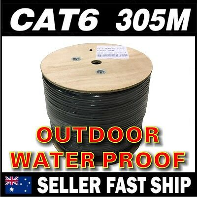 305m 1000 feet Black Cat6 1000M Outdoor Waterproof RJ45 Ethernet Network Cable