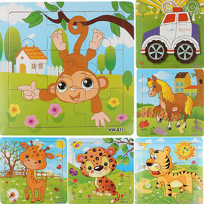 1Set 9 Piece Wooden Kids Jigsaw Toys Children Education Learning Puzzles Toys