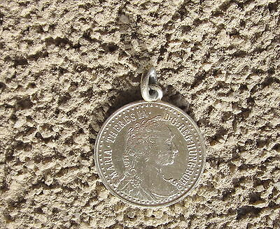 Maria Theresia Austrian Antique Medal Pendant Fob For Pocket Watch Chain