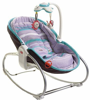 Tiny Love 3-in-1 Baby Rocker Napper Seat Travel Bassinet Play Sleep Turquoise