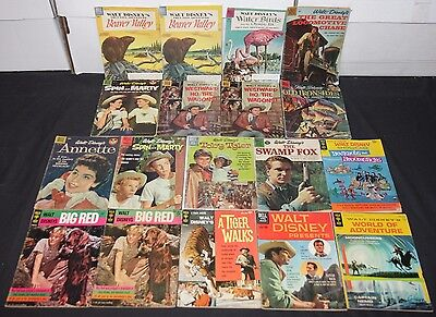 Vintage Dell/Gold Key Gold to Silver Age TV/Movie Titles 18pc Low-Mid Comic Lot